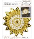 K&Company White And Gold Medallion Gift Embellishment