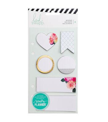 Heidi Swapp Memory Planner Pack of 6 Notepads-White