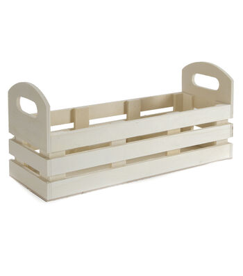 "Unfinished Wood Jar Crate-11""x5.5""x4"""