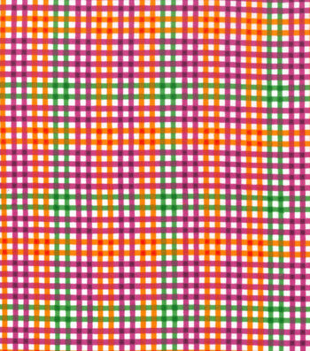 Snuggle Flannel Fabric 42''-Bright Gingham Plaid