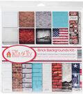 Ella & Viv Collection Kit 12\u0022X12\u0022-Brick Backgrounds