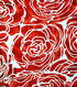 Cape May Polyester & Spandex Fabric 57\u0027\u0027-Large Red Floral