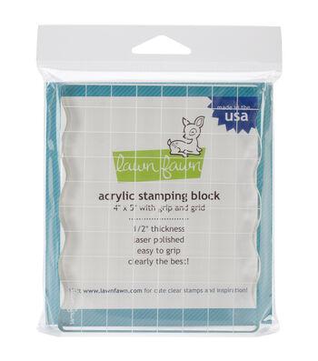 "Lawn Fawn 4""X5"" Block with Grip & Grid"