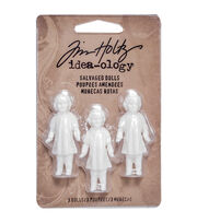 "Idea-Ology Salvaged Dolls 1.75"" 3/Pkg-, , hi-res"
