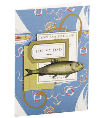 Anna Griffin Card Kit Birthday For My Dad Sailboats
