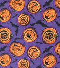 Halloween Cotton Fabric 44\u0027\u0027-Marvel & Halloween on Purple