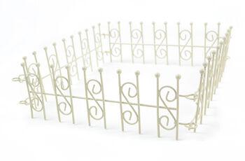 Fairy Garden White 4 Way Linked Fence