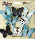 Petaloo Darjeeling Teastained 8pcs 1.5\u0027\u0027 Butterflies