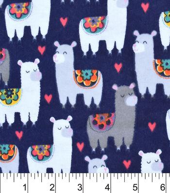 "3 Yard Pre-Cut Snuggle Flannel Fabric 42""-Patterned Llamas"