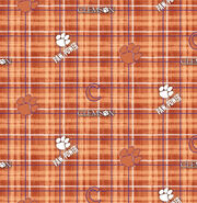 "Clemson University Tigers Cotton Fabric 44""-Plaid, , hi-res"