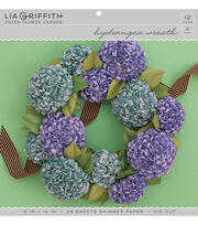 Lia Griffith Paper Flower Garden-Hydrangea Wreath, , hi-res