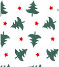 Holiday Showcase™ Christmas Cotton Fabric 43\u0027\u0027-Christmas Trees & Stars on White