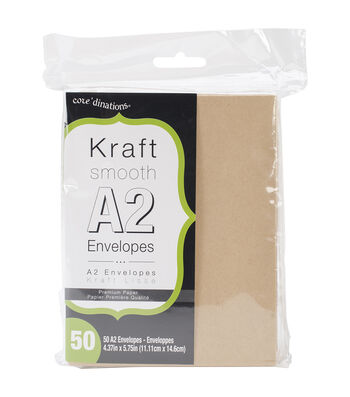 "Heavyweight A2 Envelopes (4.375""X5.75"") 50/Pkg-Kraft"