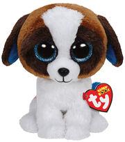 Ty Beanies Duke Brown White Dog Medium, , hi-res