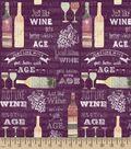 Just Like Wine Print Fabric