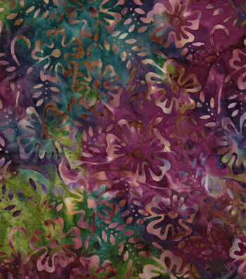 "Legacy Studio™ Indonesian Batiks Cotton Fabric 43""-Floral"
