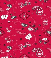 "University of Wisconsin Badgers Cotton Fabric 44""-Bandana, , hi-res"