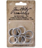 Tim Holtz® Idea-ology® 15 Pack 0.75'' Tag Press Rings, , hi-res