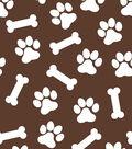 Snuggle Flannel Fabric 42\u0027\u0027-Brown Dog Print