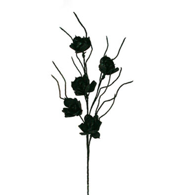 Maker's Halloween Rose Spray-Black