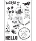 Forever Green Cling Rubber Stamps 4\u0022X6\u0022-