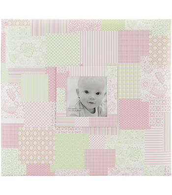 MBI 12''x12'' Baby Post Bound Album With Window-Pink