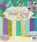 DCWV 12\u0022x12\u0022 Violet Leaf Stack