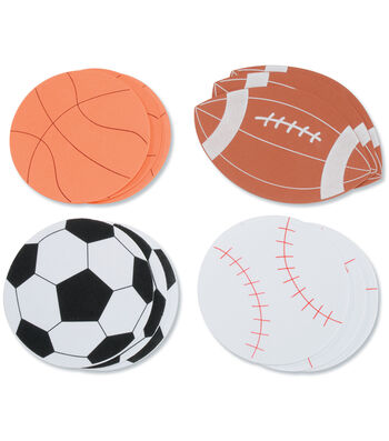 Darice Foam Shapes 12/Pkg-Sports Ball