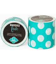 "Heidi Swapp Marquee Love Washi Tape .875""-Mint Polka Dot, 12', , hi-res"