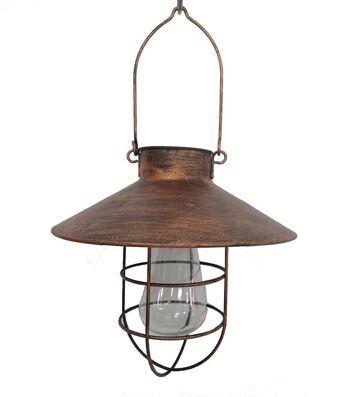 Americana Patriotic Solar LED Lantern-Bronze