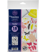 Crafter's Companion Threaders Rubber Stamp Set-Nature's Garden, , hi-res