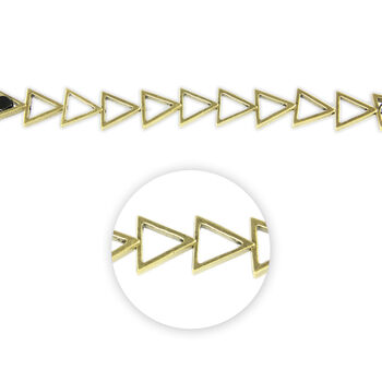 "Blue Moon Beads Strand 7"" Metal Open Triangle, Ox Brass"