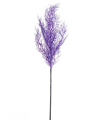 Maker's Halloween 30'' Glitter Branch Spray-Purple