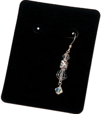 Darice Velvet Earring Display Cards Black