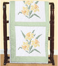 Jack Dempsey Stamped White Quilt Blocks Jonquil