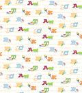 Snuggle Flannel Print Fabric 42\u0022-ABC Friends