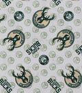 Milwaukee Bucks Cotton Fabric 44\u0022-Logo Toss