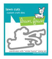 Lawn Fawn Lawn Cuts Custom Craft Die -Winter Bunny, , hi-res