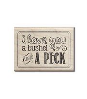 Hampton Art Cam & Chloe Mounted Stamp-Bushel & Peck, , hi-res