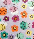 Fashion Flannel Fabric 42\u0022-Bugs Glitter