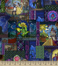 Disney Beauty & The Beast Cotton Fabric 43\u0027\u0027-Stained Glass