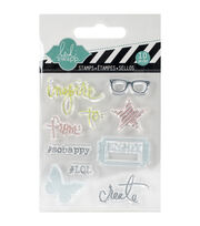 "Heidi Swapp Mixed Media Clear Mini Stamps 3""X3.5""-Inspire, , hi-res"