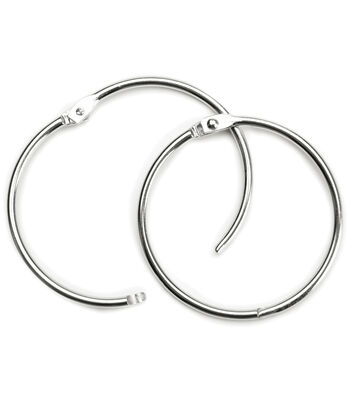 "Baumgartens 3"" Book Ring 2 Pack-Silver"
