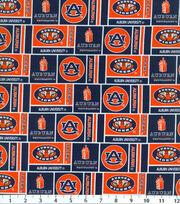 Auburn University Tigers Cotton Fabric 43''-Herringbone, , hi-res