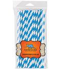 Aardvark Jumbo Straw Unwrapped Striped 7.75\u0027\u0027 50pcs