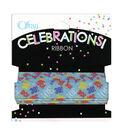 Offray Celebrations Ribbon 5/8\u0022 x 9\u0027- Birthday