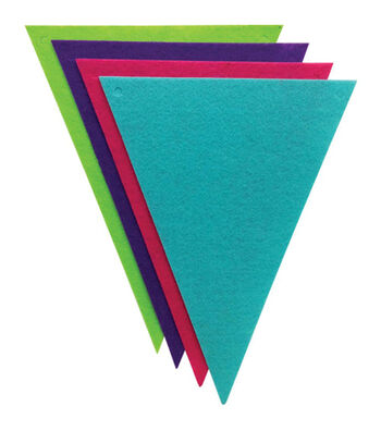Felt Banners 8/Pkg-Triangles Brights
