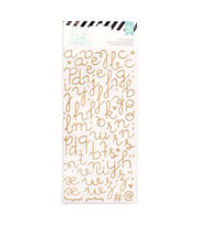 Heidi Swapp 81 Pack Glitter Puffy Alphabet Stickers-Gold, , hi-res