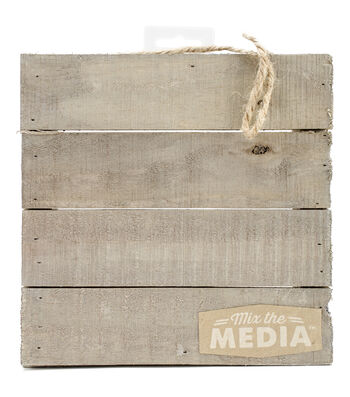 "Mix The Media Wooden Plank Plaque-8""X8"""