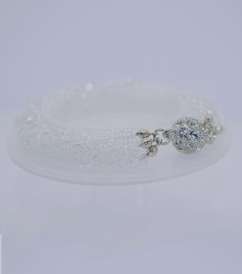 Crystal Multi Strand Bracelet-Clear